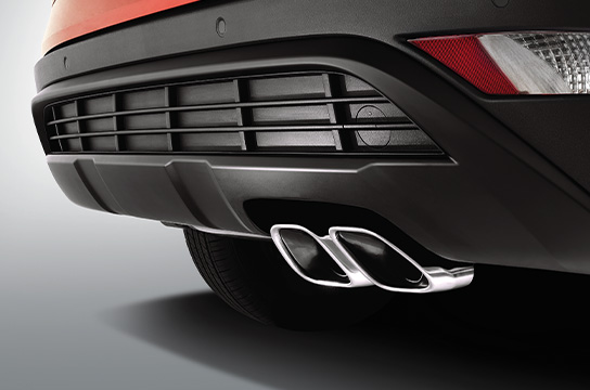 Twin-tip exhaust (Turbo only)