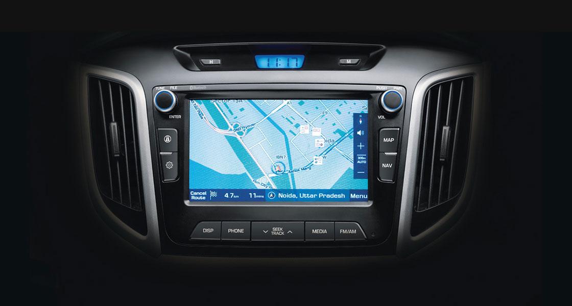 Hyundai Creta touch screen