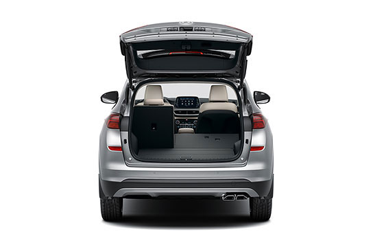 Hyundai Tuscon Rear seats folded 60%