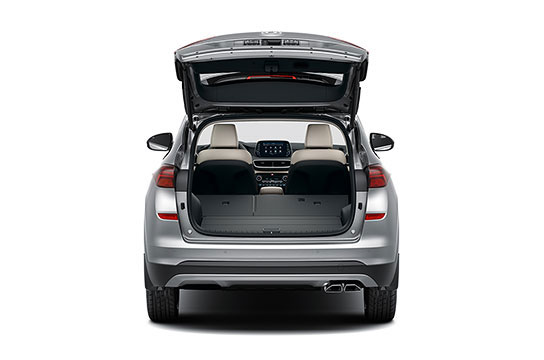 Hyundai Tuscon Rear seats folded