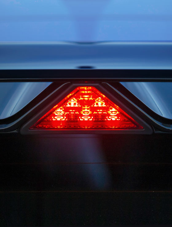 triangle brake light