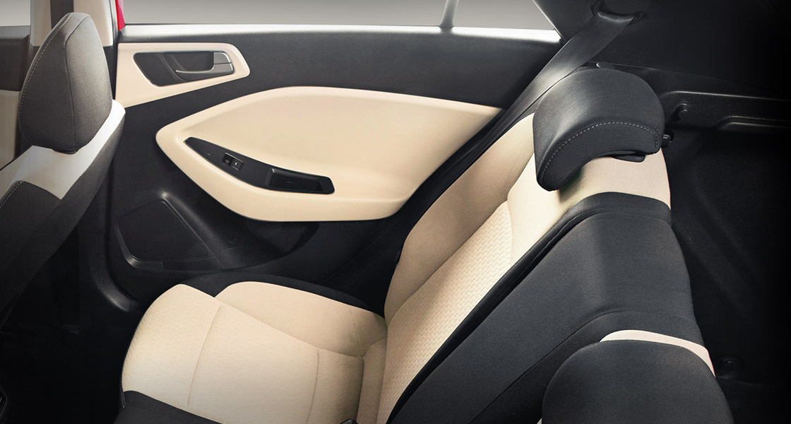 Elite I20 Interior Rear Seat