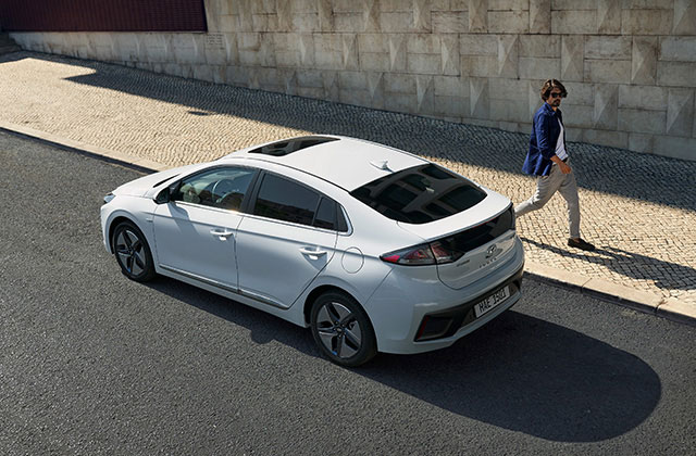 IONIQ hybrid rear side view