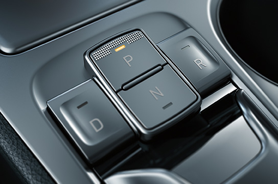 Electronic gear shift button