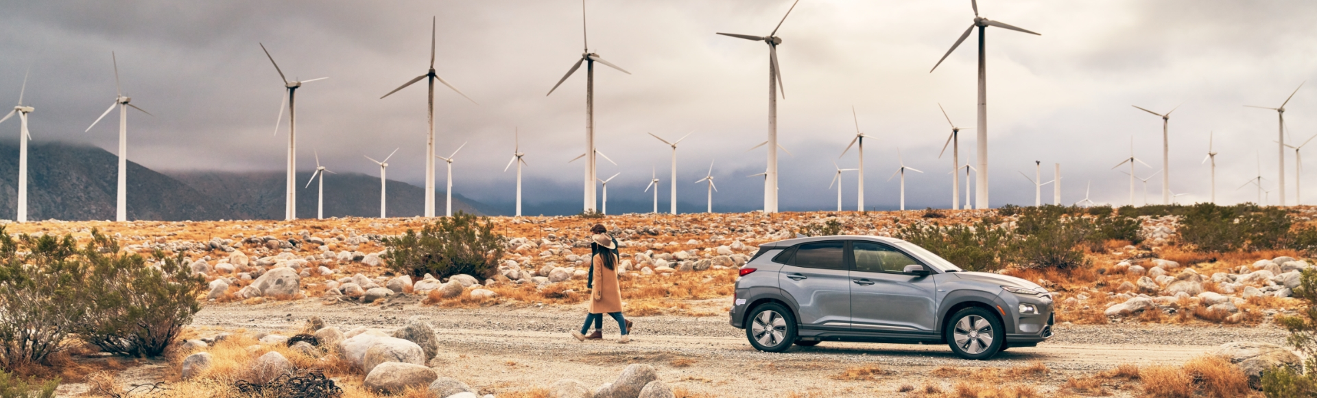 Kona electric and windmills