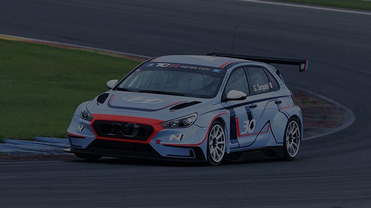 i30 n tcr is turing the corner on a race track
