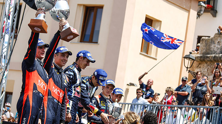 hayden paddon and thierry neuville double podium rally italia sardegna