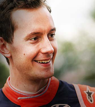 seb marshall participates in the world rally championship as a co-driver